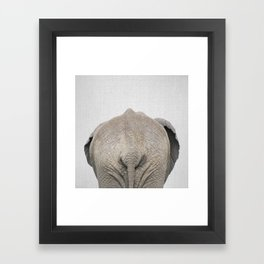 Elephant Tail - Colorful Framed Art Print