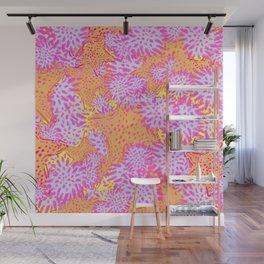 Starfish & Sea Urchin jumbo yellow Wall Mural