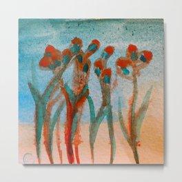 Orange Poppies at Sunset Metal Print