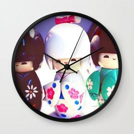 Japanese Dolls Wall Clock