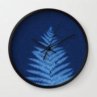 fern Wall Clocks featuring Fern by Jill Byers