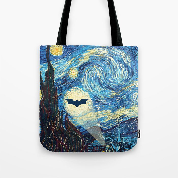 Starry Night Heroes Tote Bag