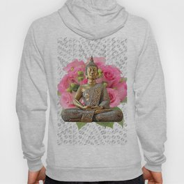 Buddha Rose Silver Mandala Hoody