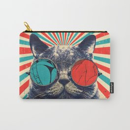 The Spectacled Cat Carry-All Pouch