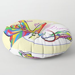 ASL I'll Love You Always and Forever Floor Pillow