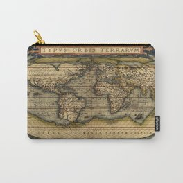 Vintage World Map - Ortelius World Map 1570 Carry-All Pouch