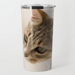 Cretan Cat Portrait Travel Mug