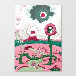 Feeding fish Canvas Print