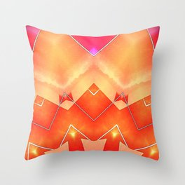 Vibrant South Western Inspired Abstract Throw Pillow