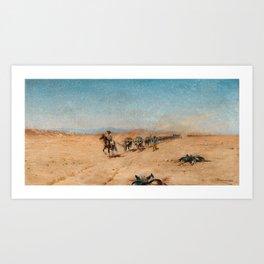 Wilhelm Kuhnert, Water Buffaloes Art Print
