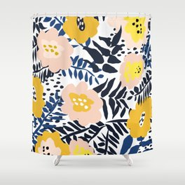 Outdoor: florals matching to design for a happy life Shower Curtain