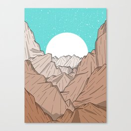 The Mountains of Old Canvas Print