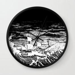 Galleon (line) Wall Clock
