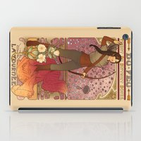 mucha iPad Cases featuring La fille du feu by Megan Lara