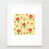 pixel Framed Art Prints featuring Pixel by Kakel
