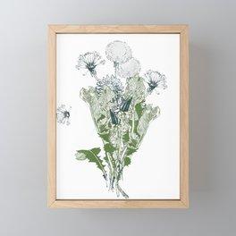 Dandelion botanical  Framed Mini Art Print