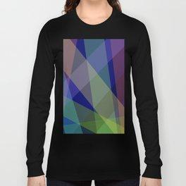 Stripes - Navy Blue Long Sleeve T-shirt