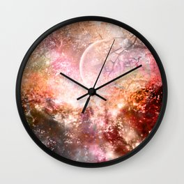 Negative Fantasy Wall Clock