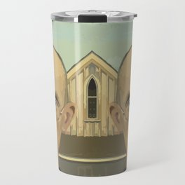 Gay American Gothic - LGBT Marriage Equality Travel Mug