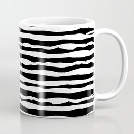 Black and White Stripes Coffee Mug