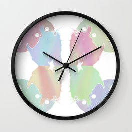 Pastel Kitten Wall Clock