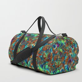 Floral Abstract Stained Glass G290 Duffle Bag