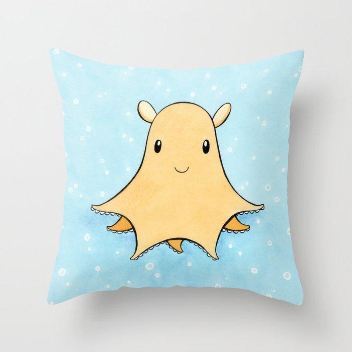 Flapjack Octopus Throw Pillow