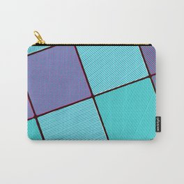 Purple and Aqua Carry-All Pouch