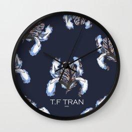 T.F TRAN BLUE SNAKE IRIS Wall Clock