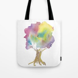 Dreaming tree - watercolor and ink whimsical illustration Tote Bag
