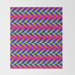 Zig Zag Folding Throw Blanket