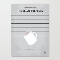 No095 My The usual suspects minimal movie poster Canvas Print