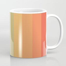Colorful Retro Striped Rainbow Coffee Mug