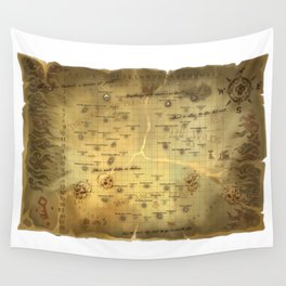 Sea of Thieves Map Wall Tapestry