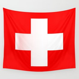 Swiss National Flag Wall Tapestry