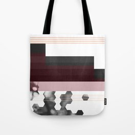 Striped Burgundy Deco Accent Tote Bag