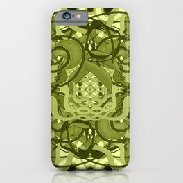 Olive ornament iPhone Case