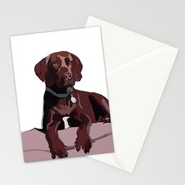 Labrador dog (chocolate) Stationery Cards
