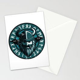 Viking Odin with Hugin and Munin Stationery Cards