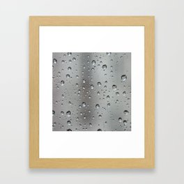 Raindrops on the window Framed Art Print