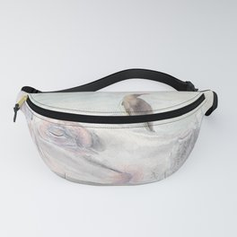 "Watercolor Painting of Picture ""Hippopotamus"" Fanny Pack"