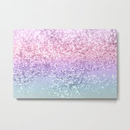 Unicorn Girls Glitter #1 #shiny #pastel #decor #art #society6 Metal Print