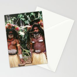 Papua New Guinea Village Sing Sing Authentic Celebration Stationery Cards