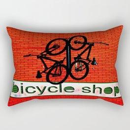 Bicycle Shop Rectangular Pillow