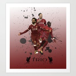 Liverpool trio attack Art Print