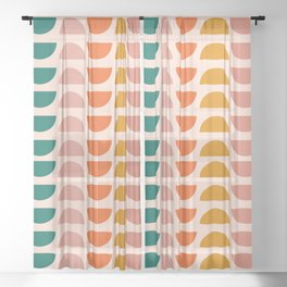 Retro 70s Geometrics Sheer Curtain
