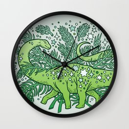 Winter Solstice Sauropod | Evergreens Palette Wall Clock