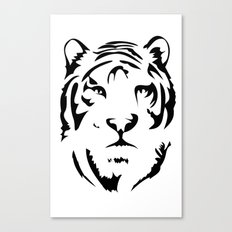 Minimalistic Tiger Face Canvas Print
