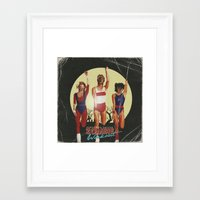 workout Framed Art Prints featuring Zombie Workout by Vincenzo Salvia