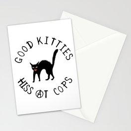 Good Kitties Hiss At Cops Stationery Cards